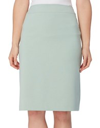 Tahari By Arthur S. Levine Double Vent Solid Skirt Mint