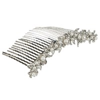 John Lewis Row Of Pearls Hair Comb Silver White