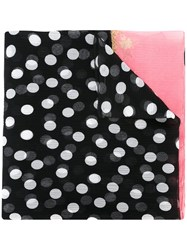 Dolce And Gabbana Polka Dot Print Scarf Black