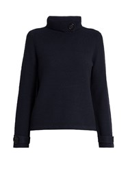 Goat Halston Roll Neck Sweater Navy