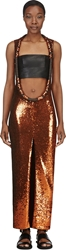 Givenchy Rust Sequinned Open Front Dress