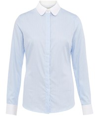 Austin Reed Blue Bengal Stripe White Collar Shirt