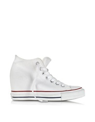 Converse Limited Edition All Star Mid Lux White Canvas Wedge Sneaker