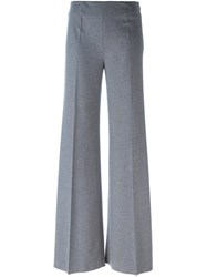 Blumarine Flared Tailored Trousers Grey