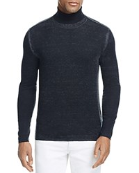 John Varvatos Collection Reverse Print Silk Cashmere Turtleneck Sweater 100 Bloomingdale's Exclusive Grey Exclusive