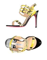 Luciano Padovan Footwear Sandals Women Yellow