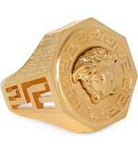 Versace Medusa Greca Gold Plated Ring