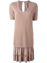 N 21 No21 Ribbed Sweater Dress Pink And Purple