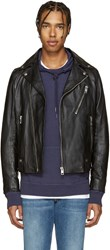 Diesel Black Leather L Beck Biker Jacket
