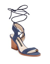 French Connection Jalena Suede Lace Up Sandals Blue