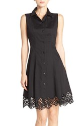 Women's Maia Stretch Cotton Fit And Flare Shirtdress
