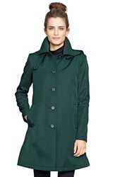 Lauren Ralph Lauren A Line Raincoat Regular And Petite Nordstrom Exclusive Forest Green