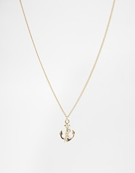 And Mary Neckalace With Small Anchor Charm Goldplate