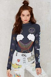 Nasty Gal Emma Mulholland Cherry Bomb Embroidered Bodysuit