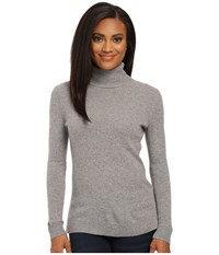 Pendleton Petite Turtleneck Soft Grey Heather Women's Clothing Gray