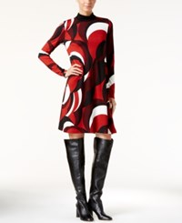 Inc International Concepts Printed Shift Dress Only At Macy's Sky Swirl