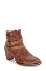 Bed Stu Women's Begin Harness Bootie Tan Teak Driftwood Leather