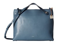 Skagen Mikkeline Satchel Smokey Blue Satchel Handbags