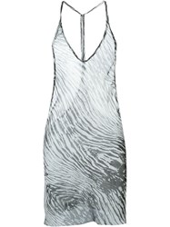 Ann Demeulemeester Printed Sheer Cami Top White