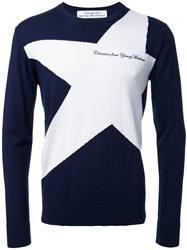 Education From Youngmachines Star Jumper Blue