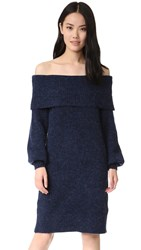 Designers Remix Sierra Off Shoulder Sweater Dress Navy