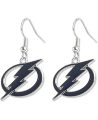 Aminco Tampa Bay Lightning Logo Drop Earrings