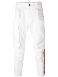 Dsquared2 Stripe Applique Cargo Trousers White