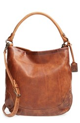 Frye 'Melissa' Washed Leather Hobo Brown Cognac