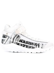 Nasir Mazhar Graphic Logo Sneakers White