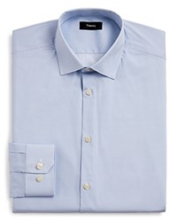 Theory Ring Print Regular Fit Dress Shirt Blue