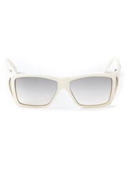 Gianni Versace Vintage Square Frame Sunglasses White