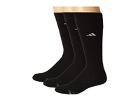 Adidas Cushioned 3 Stripe 3 Pair Crew Sock Black White Light Onix Granite Men's Crew Cut Socks Shoes