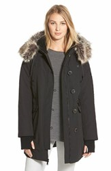 Women's Bcbgeneration 'Expedition' Faux Fur And Faux Shearling Trim Parka Black