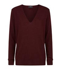 Theory Adrianna V Neck Jumper Female Red