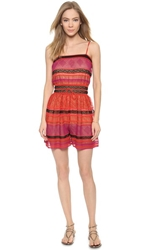 M Missoni Striped Romper Red