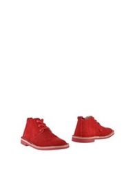 Buddy Ankle Boots Red