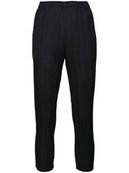 Issey Miyake Pleats Please By 'September' Cropped Pants Black
