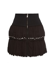 Isabel Marant Roscoe Zip Front Cotton Crepe Skirt