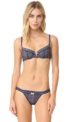 Cosabella Paul And Joe Penelope Underwire Bra Navy Blue Bleach Sand