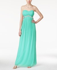 Trixxi Juniors' Strapless Cut Out Sequined Gown