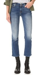 7 For All Mankind Cropped Boot Cut Jeans Abbey Road