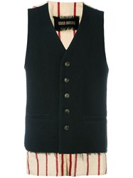 Uma Wang Button Down Waistcoat Black
