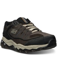 Skechers Men's After Burn Memory Fit Wide Width Training Sneakers From Finish Line Brown Taupe