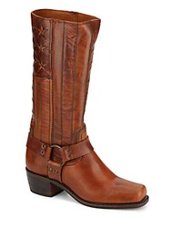 Frye Tall Leather Harness Boots Tan