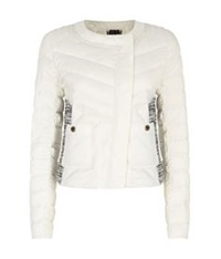 Juicy Couture Boucle Puffer Jacket Ivory