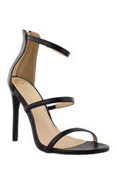 Liliana Golden High Heel Sandal Black