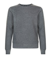 Boss Stitch Panel Neoprene Sweatshirt Male Dark Grey