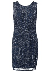 Lace And Beads Brittany Shift Dress Navy Dark Blue