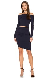 Becandbridge Trixie Off The Shoulder Long Sleeve Dress Navy