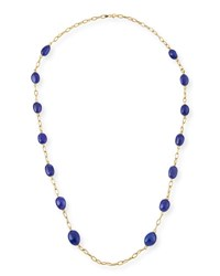 Goshwara 18K Yellow Gold And Tanzanite Station Necklace 35